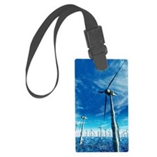 Wind power, artwork Luggage Tag