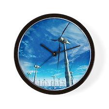 Wind power, artwork Wall Clock