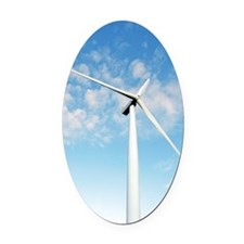 Wind turbine, Denmark Oval Car Magnet