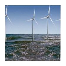 Wind turbines Tile Coaster