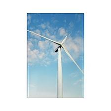 Wind turbine, Denmark Rectangle Magnet
