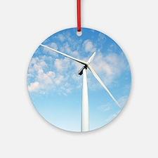 Wind turbine, Denmark Round Ornament