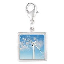 Wind turbine, Denmark Silver Square Charm