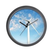 Wind turbine, Denmark Wall Clock