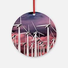Wind turbines Round Ornament