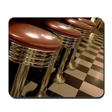 Old fashioned counter stools at a cafe i Mousepad