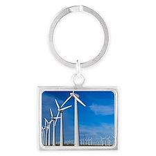 Wind turbines Landscape Keychain