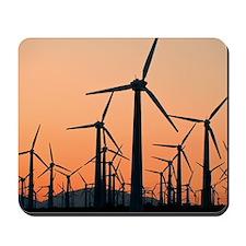 Wind turbines, California Mousepad