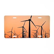 Wind turbines, California Aluminum License Plate