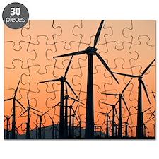 Wind turbines, California Puzzle