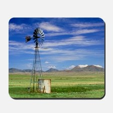 Windmill on prairie land, New Mexico Mousepad