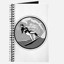 Black & White Surfer Girl Design Journal