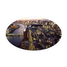 View of Sumida River and Kachidoki Oval Car Magnet