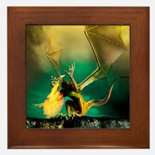 Winged dragon Framed Tile