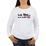 Read Tshirts Not Books Women's Long Sleeve T-Shirt