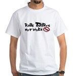 Read Tshirts Not Books White T-Shirt