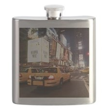 Taxis driving through times square in New Yo Flask