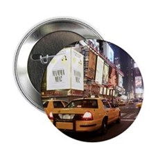 """Taxis driving through times square in 2.25"""" Button"""