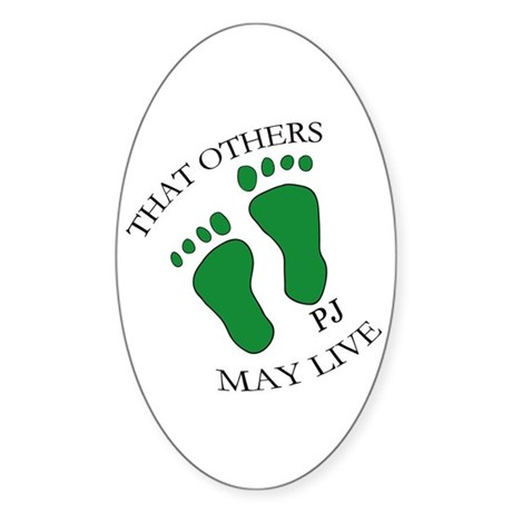 PJ Feet Oval Sticker