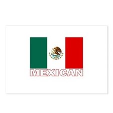 Mexican Flag (Dark) Postcards (Package of 8)