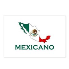 Mexicano Map (Light) Postcards (Package of 8)