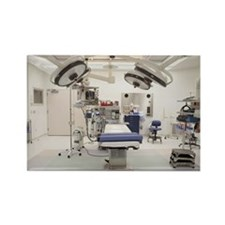 Empty operating room Rectangle Magnet