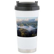 Clouds over mountains in Caguas Travel Mug