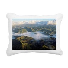 Clouds over mountains in Rectangular Canvas Pillow