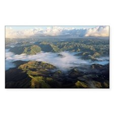 Clouds over mountains in Cagua Decal