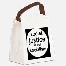 socialjusticebutton Canvas Lunch Bag