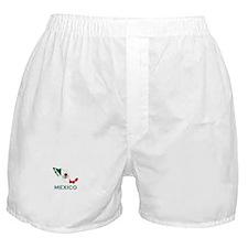 Mexico Map (Light) Boxer Shorts