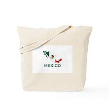 Mexico Map (Light) Tote Bag