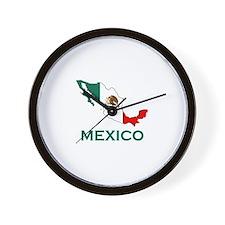 Mexico Map (Light) Wall Clock