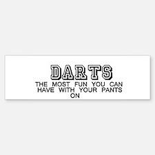 Darts Bumper Bumper Bumper Sticker