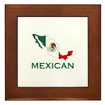 Mexican Map (Light) Framed Tile