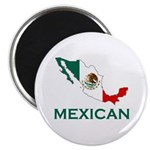 Mexican Map (Light) Magnet