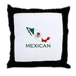 Mexican Map (Light) Throw Pillow