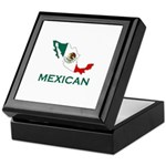 Mexican Map (Light) Keepsake Box