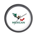 Mexican Map (Light) Wall Clock