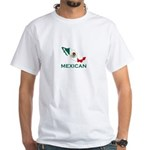 Mexican Map (Light) White T-Shirt