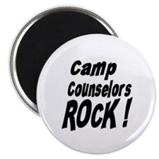 """Camp Counselors Rock ! 2.25"""" Magnet (100 pack)"""