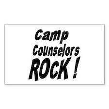 Camp Counselors Rock ! Rectangle Decal