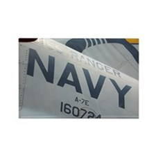 Navy airplane Rectangle Magnet