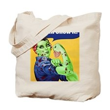 Rosie the Riveter Zombie We Can Chew It Tote Bag