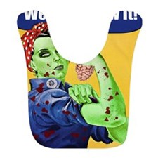 Rosie the Riveter Zombie We Can Chew It Bib