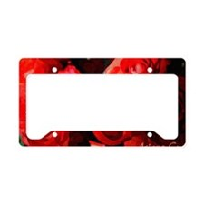 red rose License Plate Holder