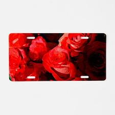 red rose Aluminum License Plate