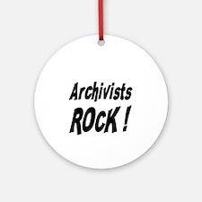 Archivists Rock ! Ornament (Round)