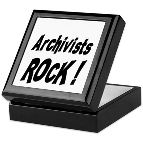 Archivists Rock ! Keepsake Box