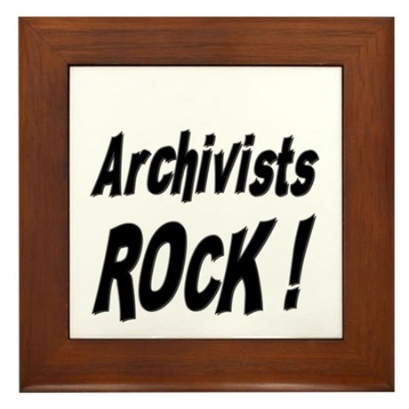 Archivists Rock ! Framed Tile